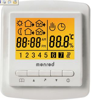 时段编程采暖房间温控器周